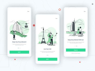 Destination Travel Services app design app apple travel explore travel and explore uidesigner uxdesigner uidesign uxdesign minimal flat illustration ux ui design
