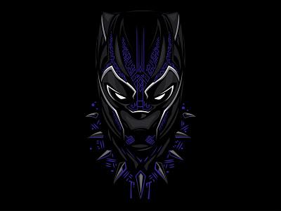 Black panther panther black logo icon vector minimal illustration flat design black panther