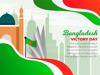 Vectory Day bangladesh flat design illustration minimal vector