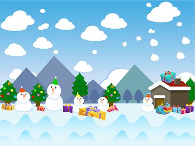 Merry Christmas merry christmas vector merry christmas vector flat illustration minimal