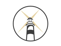 Flat Iconic Lighthouse Logo