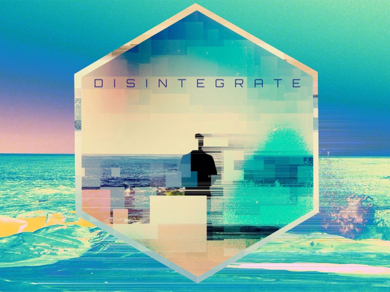 DISINTEGRATE iphone only design graphics for fun typography visual ocean sea waves beach