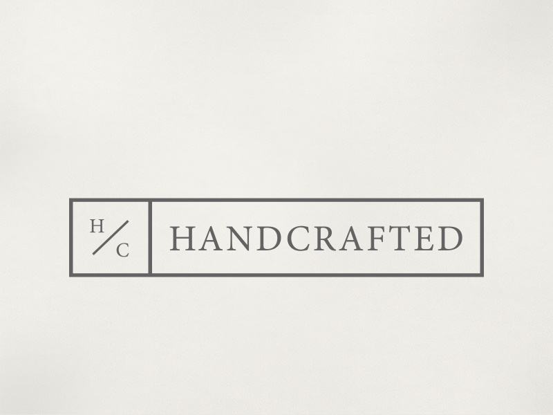 Handcrafted Logo type handcrafted serif minion brand clean simple identity icon lettering logo