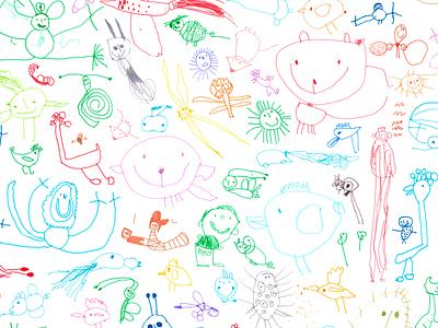 2018 Julidoodles smile sun princess animals child fun marker doodle drawing kids kid doodles