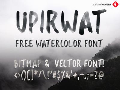 UPIRWAT - 100% FREE WATER-COLOR FONT brush calligraphy opentype color font watercolor bundle opentype bitmap font bitmap font brush strokes brush watercolor fontself font design watercolor font free font font