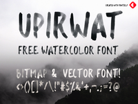 UPIRWAT - 100% FREE WATER-COLOR FONT