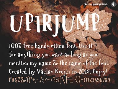 UPIRJUMP - 100% free jumpy font fontself font design design vector open type download free font