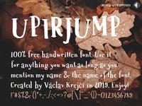 UPIRJUMP - 100% free jumpy font