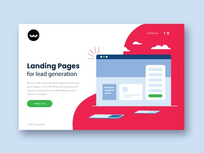 Lead generation Landing Page design leadgeneration ux ui webdesign landingpage