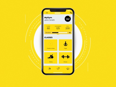 Concept Mobile App for a Fitness Club wobbymedia polygonstudio mobileappdesign mobileapp design creative agency wobby
