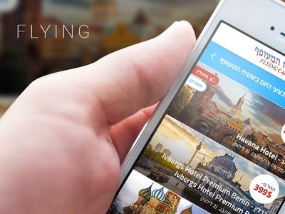 Flying - iPhone App design