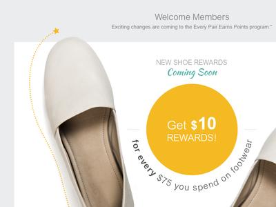 Shoe Rewards landing page