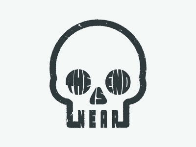 The End Is Near minimalism death typogaphy skull