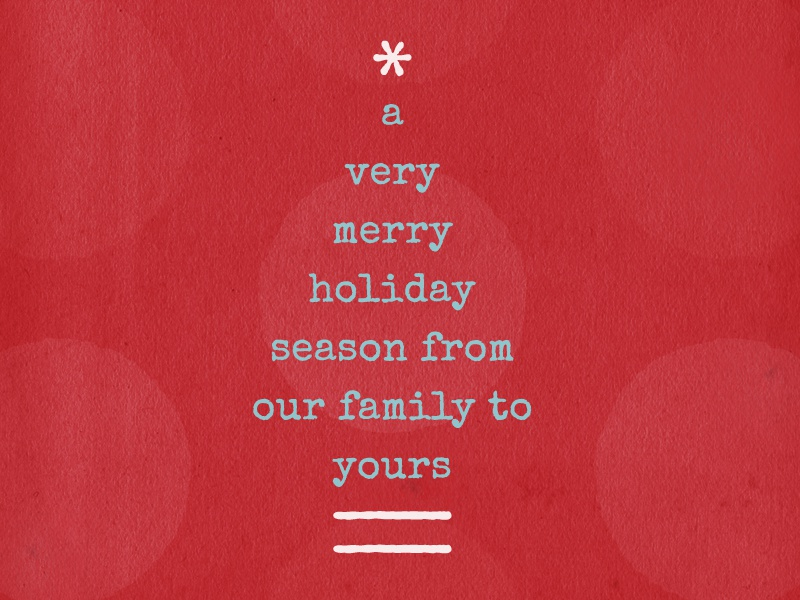 Personal Holiday Greeting Card holiday christmas greeting card card type typography