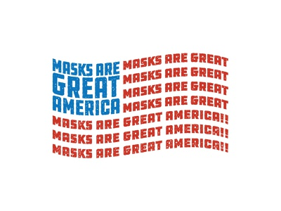 Fly The Flag lunchboxbrain coronavirus mask usa america type art type typography