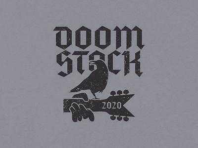 Doomstock 2020 lunchboxbrain retro metal 2020 typography illustration
