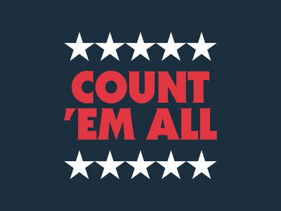 Count 'Em All political popart metallica america usa vote election 2020 election day typograpy