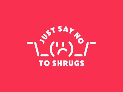 Shrug Free emoji shrug emoji shrug minimal meme 2020 typogaphy illustration
