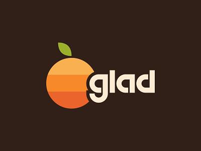 Orange You Glad joke orange apple vintage retro typography logo inspiration logo design logo