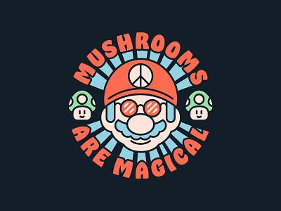 Mushrooms Are Magical lunchboxbrain retro mushroom nintendo nes video games video game mario mario bros