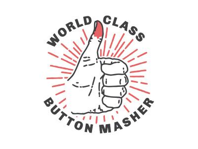 World Class Button Masher nerd typography video games graphic