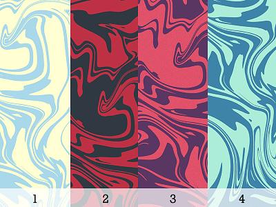 Colorways retro swirl palette color