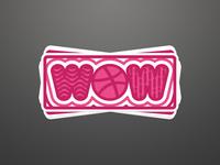 WOW - Dribbble Sticker Playoff