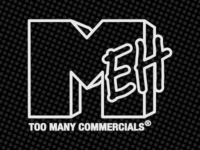 Mehlevision retro typography pop art logo branding parody