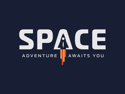 Adventure Awaits You retro vector type typography space