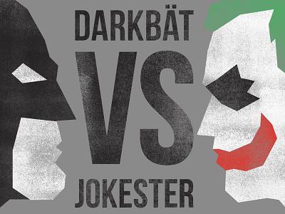 Gotham City Grudge Match retro vintage illustration typography poster boxing typography graphicdesign pop culture joker batman
