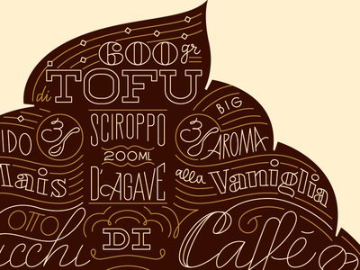 Sunday Büro for Spollo Kitchen sundayburo mocaccino cupcake cappuccino vegan recipe lettering typography italy poster