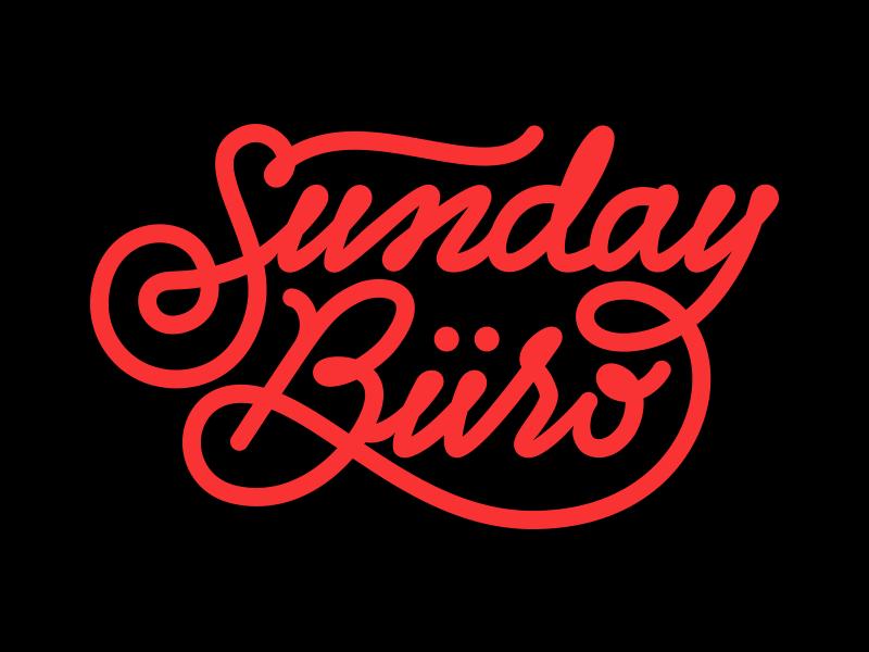 Sunday Büro sundayburo logo lettering typography type calligraphy branding identity swashes brand