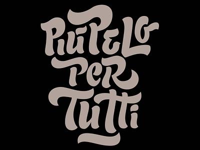 Più pelo per tutti lettering calligraphy wired typography type sunday buro fur