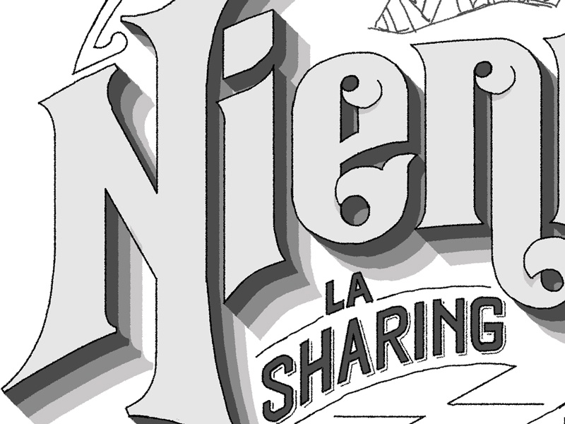 Vintage lettering wired lettering vintage shadow type typography custom