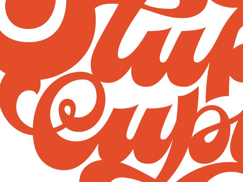 Stupid Cupid lettering swashes type custom script