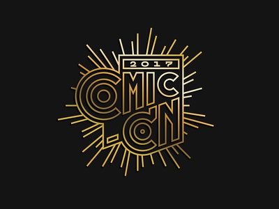 Comic-Con 2017 entertainment weekly type lettering comic san diego comic-con
