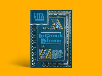La Grande Riforma - Vol.1 editorial cover type lettering