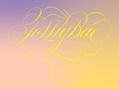 To my Bae copperplate engrossers customtype italy cursive sundayburo swashes custom vintage typography type lettering
