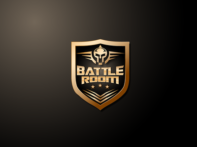 Battle Room Logo room battle spike skull illustration video series world wsvg game logo