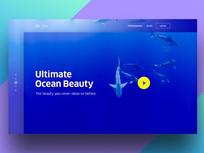 Ocean Beauty-WIP home interface gradient ui clean web sea osean