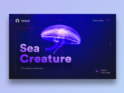 Ocilus-Web ux site video intro study case clean ui web ocean sea