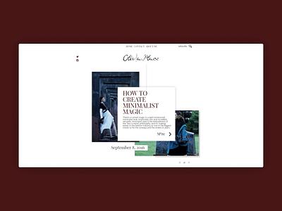 Olivia.Place - Web Design and Development website type illustrator art developement web identity clean typography icon ux ui vector illustration design branding