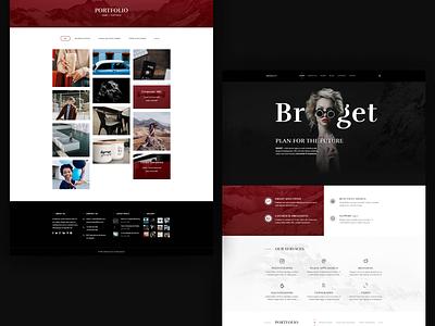 Bridget - Theme Development typography icon vector logo website clean identity developement web ux ui branding illustration design