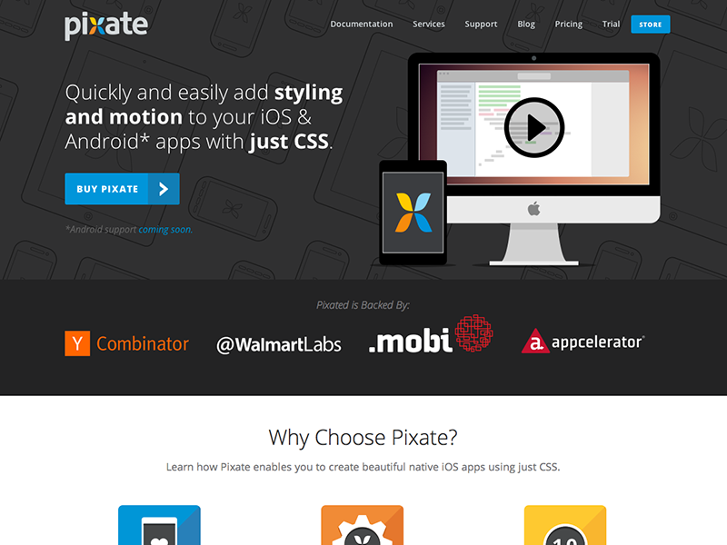 New Pixate Landing Page pixate landing marketing page svg vector flat colorful responsive