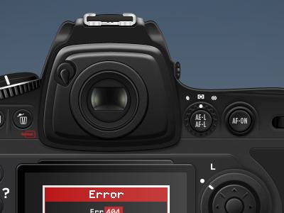 Camera in-progress camera nikon 404 illustration gray blue