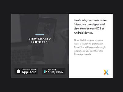 Prototype sharing pixate prototype sharing modal dark