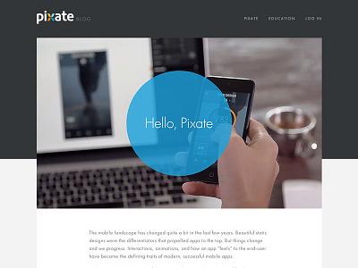 Hello, Pixate blog launch interaction animation pixate
