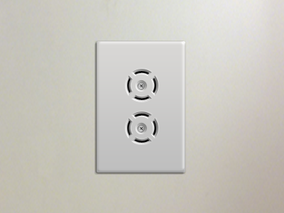 Outlet outlet screw entry