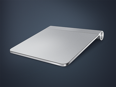 Apple Trackpad apple trackpad icon metal gray blue