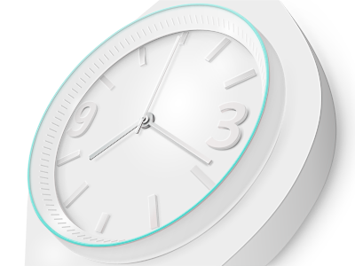Finished watch photoshop white teal watch illustration